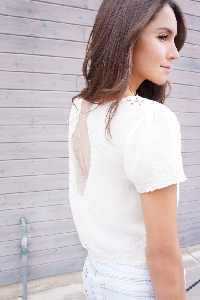 OOTD white blouse
