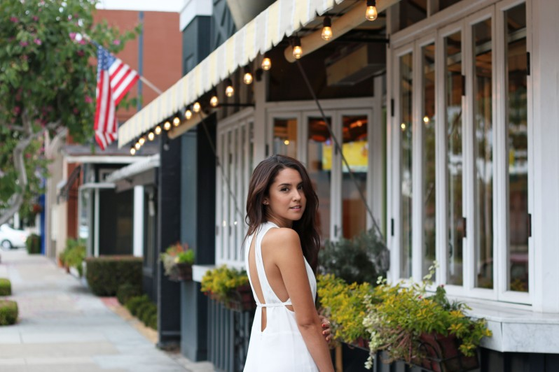backless white romper